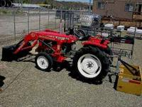 Mini Farm grade tractor with front end loader Yanmar 22