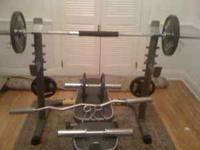 Great Olympic weight set for sale. The weights alone