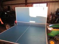 Great table tennis table. Barely used. Just sits in the