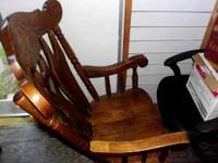 Wooden Rocking Chair in fine condition. Practically