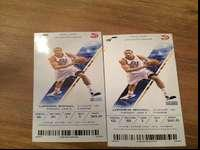 2 tickets Great seats!! 1st row upper bowl aisle seats