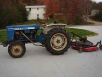 Ford 1600 Tractor, like new tires, Diesel Motor. 5 ft.