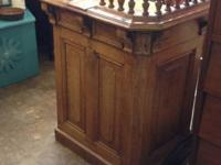 Great Vintage Church Lectern. $600. Lula B's. 2639 Main