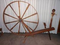 Beautiful antique great walking wheel for sale in