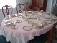 GREAT WEDDING GIFT - LENOX LACE POINT CHINA INCLUDES
