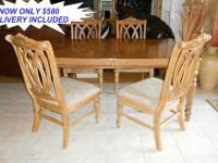 Here is a Great Wicker Rattan Dining Set with Four