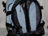 Greatland BACKPACK --COLORS: Black and Light Blue --2