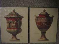 Set of Greek urn Paintings set of 2 , price $60 call:
