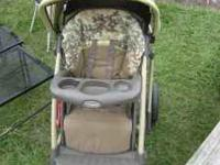 Green Baby Stroller - Cosco Full Size Very nice
