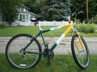 "aluminum frame - 19"", steel suspension fork, straight"