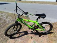 Cool bike in bright green 20 inch wheels Hand brake and
