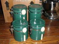 Great Sealing Green Canister Set Contact  to see/buy To