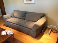 Environment-friendly down couch. Has a subtle pattern