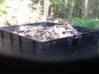 One cord of mixed hardwood firewood 128 cuft.