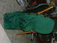 I am selling a new (never used) Green Golf Bag. Suzi --