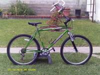 Eco-friendly Kawasaki Mtn Bike w/front shocks,