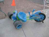 Brand new Green Machine Big wheel with water canon and