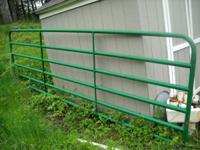 This is a 14' metal tube gate for field, farm, ranch,