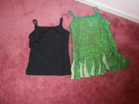 Green top is 80 % nylon and 20% metallic Adult size