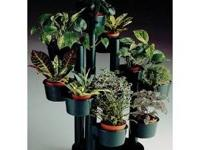 This plastic plant stand is modular and can be