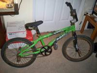 "Neon Green mongoose ""Strick"" BMX bike needs rear tube,"