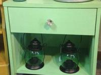 Charming green nightstand/end table. Priced to sell at