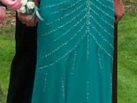 Green Prom Dress. Size small. Paid over 400 when it was