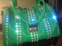 big beautiful green purse. never been used. call or