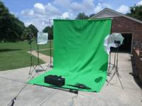 For sale is a Green Screen Photo and Light Set up by