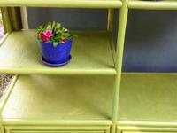 Green wicker to cheer up any room .Refurbished clean 3