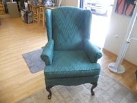 Environment-friendly Queen Anne wing back chair in