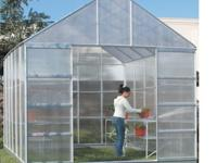 Harbor Freight 10 x 12 Greenhouse with 4 vents. Grow