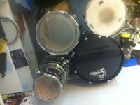 For sale is a Gretsch drum set including a Pearl snare