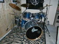 Beautiful Gretsch 7 piece drum set. Catalina birch
