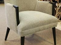 Grey flannel arm chair by Southern Furniture.  New from