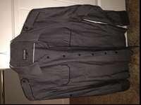 I am selling a grey with black piping dress shirt in