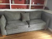 Custom Sleeper SofaGray Micro-suede -Clean, No stains,
