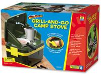 The Grill and Go Camp Stove features two light-up