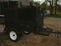 Very nice Grill/Smoker for sale propane on one end and