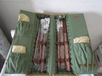 Beautiful grilling set includes fork, knife, spatula,