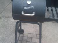 NEW Heavy duty, cast iron, BBQ grill/smoker barrel