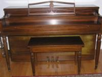 Remarkable sounding Grinnel Brothers 88 key piano with