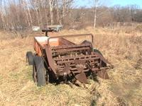 This is an old ground driven manure spreader. We did