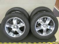 "UP FOR SALE IS A SET OF USED 20"" x 8.5"" AFTERMARKET"