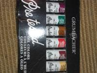 Set of ten .81 fl. Oz. brand new oil color paints. Set