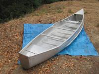 17 foot square stern Grunman Canoe for sale.  Frame is