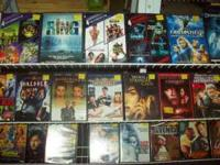 HELLO WE HAVE DVDS AND VHS FOR SALE AT OUR STORE.WE