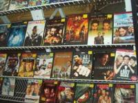 HI WE HAVE DVDS AND VHS FOR SALE AT OUR STORE.WE ARE