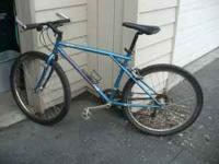 This vintage mountain bike needs a little work but