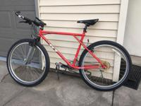 Used mountain bike. Just replaced the tires and inner